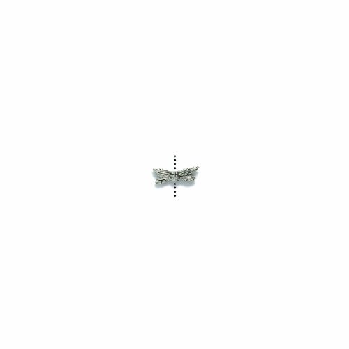 Shipwreck Beads Pewter Dragonfly Wings Bead, Silver, 13mm, 10-Pack