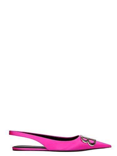 Balenciaga Women's 566651W0wm05620 Fuchsia Leather Flats