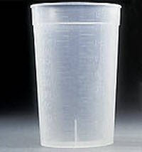 Polypropylene Sterile - BD 354020 Falcon Polypropylene Sterile Sample Container without Lid, 8 oz Capacity (Case of 500)