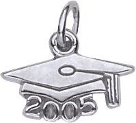 - Rembrandt Charms Graduation Cap 2005 Charm, Sterling Silver