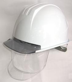 タニザワ工事用ヘルメット シールド付【ST162V,SD(EPA)】