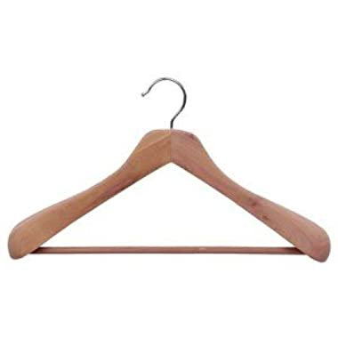 Deluxe Cedar Suit Hangers, Box of 6 by The Great American Hanger Company