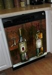 Old World Wine Dishwasher Magnet Cover (Large)