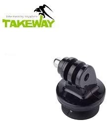 TAKEWAY T-RC03 Quick Release Clip for Action cam T1// T1 Plus Clampod R1//R2 Ranger Tripod use Aluminum Alloy and POM, Gopro Hero 4//3+//3//2//1 Mount Adapter,