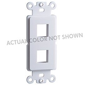Cooper Wiring Devices 5522-5ELA Decora-Style Mounting Strap with 2 Ports - Light Almond