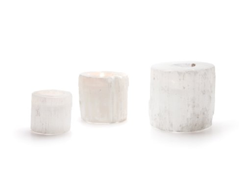 Go Home 10707 British Isle Round Rock Crystal Votive Set, Set of - Rock Round Outlet