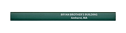 (Pencil Guy Promotional Personalized Imprinted Carpenter Pencils- 1000 per box)
