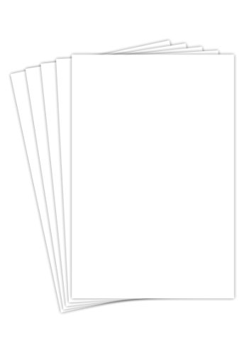 12 X 18 Inches White Card Stock - 80 Lb. Cover Smooth (218gsm) - 50 Sheets