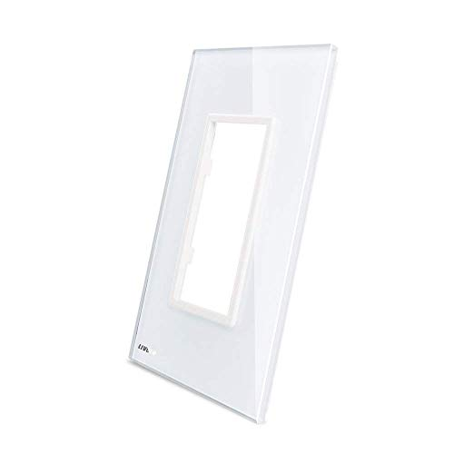 LIVOLO White Duplex Outlet Wall Plate,Only Compatible with LIVOLO Outlet C5-SR-11