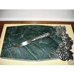Grape Weave Metal Serveware Cheese Board with Knife