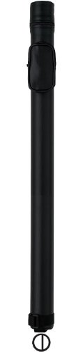 Action Round Style Pool Cue Case (1 Butt and 2 Shaft), Black ()
