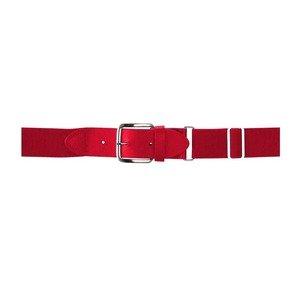 Wilson Adult Elastic Baseball Belt, Scarlet (Belt Elastic Scarlet)