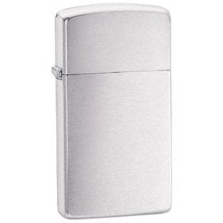 Zippo Lighter Brushed Chrome Finish Slim Design Stylish Modern Design High Quality (Chrome Brushed Design)