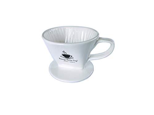 Cheap Trusty Brew Ceramic Pour Over Coffee Dripper (White)
