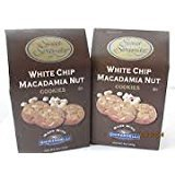 Ghirardelli White Chocolate Macadamia Nut Cookies (Two- 8oz Boxes). by Sweet Serenity
