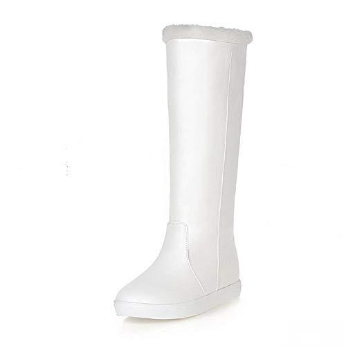 Plataforma White Ocio Agregar Mujer Sólida La Botas Size Plus Para Piel De 33 Calzado Nieve New Invierno 43 Hoesczs Zapatos x4pqSOZ