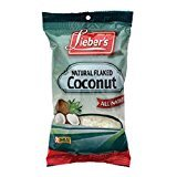 Lieber's Natural Flaked Coconut All Natural 4 Oz. Pack Of 6.