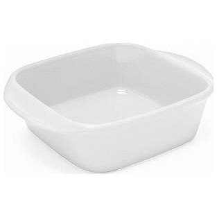 "Chantal Stoneware Ceramic Baking Dish - Square 8"" x 8"" Glossy White"