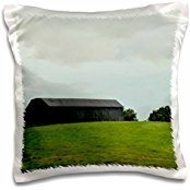 ET Photography Nature Scenes - A barn sitting in a pasture in Kentucky - 16x16 inch Pillow Case