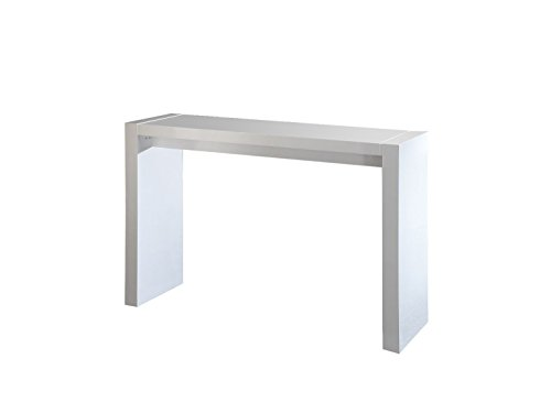 Neos Modern Furniture Creative Images International Neo Collection Wooden Bar Table, White Lacquer