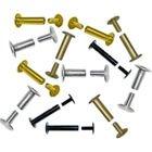 5/8'' Gold Colored Aluminum Screw Posts - 100pk