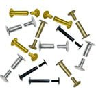 5/8'' Gold Colored Aluminum Screw Posts - 100pk