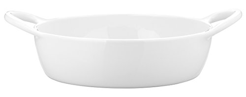 Pillivuyt Eden 10-1/2 by 7-1/2-Inch Small Oval Baker, 2 Quart Capacity