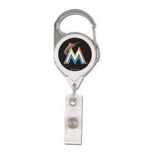 WinCraft MLB Miami Marlins Retractable Premium Badge Holder, Team Color, One Size - Florida Marlins Gear