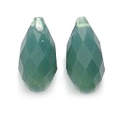 010 Briolette Drop Beads, Opal, Palace Green, 6.5 by 13mm, 2 Per Pack ()