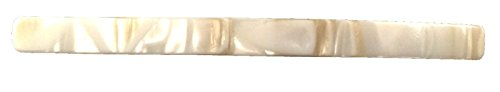 French Amie Long and Thin Handmade Celluloid Pearl Ivory Hair Clip Barrette - 4 Inches (Cream Nouget)