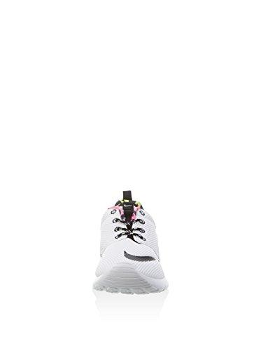 Nike White/Black-Volt-Pink Blast, Zapatillas de Deporte para Niños Blanco (White / Black-Volt-Pink Blast)