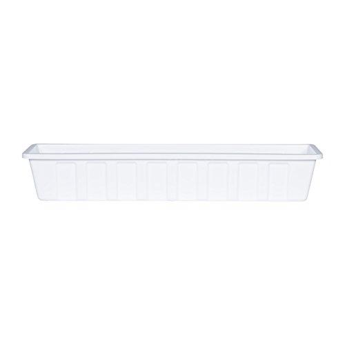Poly-Pro Plastic Flower Box Planter, White, 30-Inch (30 Liner Planter)