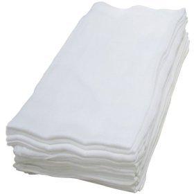 Dudu N Girlie 100 Percent Cotton Baby Muslin Squares, 72 cm x 72 cm, 6-Piece, White Dudu N Girlie Limited B00EXVETC2