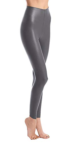 - commando Women's Perfect Control Faux Leather Leggings, Graphite, X-Large