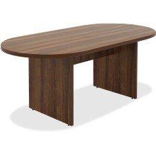 - Lorell 34337 Chateau Conference Table, Walnut Laminate