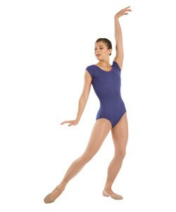 Capezio DanceLogic Children's Short Sleeve Leotard w/Princess Plum L