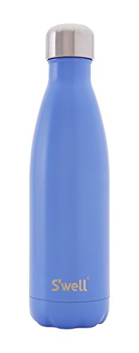 S'well Vacuum Insulated Stainless Steel Water Bottle, Double Wall, 17 oz, Monaco Blue
