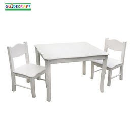 Guidecraft Classic White Table and Chairs - G85702