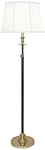 Lewis Deep Patina Bronze with Modern Brass Club Floor Lamp (Floor Club Lamp Adjustable)
