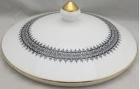 Wedgwood Astor (Black On White-Newer) Lid for Round ()