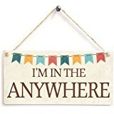 I'm In The Garden / Greenhouse / Summer House / Hot Tub Plaque - Custom Wording Any Name Cute Bunting Design
