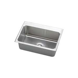elkay dlr3122100 gourmet lustertone stainless steel single basin top mount kitchen sink 31  elkay dlr3122100 gourmet lustertone stainless steel single basin      rh   amazon com