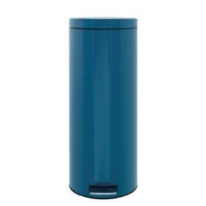 Brabantia 424861 Poubelle à Pédale 30 L Vintage Bleu