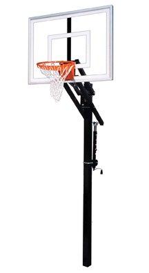最初チームJam III steel-acrylic in ground調整可能バスケットボールsystem44、スカーレット B01HC0DTT4