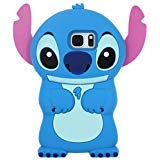 Blue Stitch Case for Samsung Galaxy S7 edge,3D Cartoon Animal Cute Soft Silicone Rubber Protective Kawaii Funny Character Cover,Animated Cool Skin Cases for Kids Child Teens Girls Guys (Galaxy S7edge)