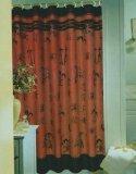 Popular Bath Asian Bamboo Fabric Shower Curtain]()