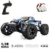 10 Electric Rc Car - IMDEN Remote Control Car, Terrain RC Cars, Electric Remote Control Off Road Monster Truck, 1:18 Scale 2.4Ghz Radio 4WD Fast 30+ MPH RC Car, with 2 Rechargeable Batteries, Blue
