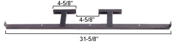 Modern Home Products MMBR1 Stainless Steel Burner Support Bracket with Crossovers by MHP