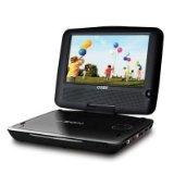 Coby TFDVD7309 7-Inch Portable DVD/CD/MP3 Player with Swivel Screen (Black)