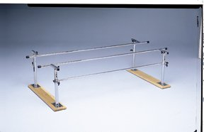 Parallel Bars, wood base, folding, height and width adjustable, 7 foot long Adjustable Folding Parallel Bars
